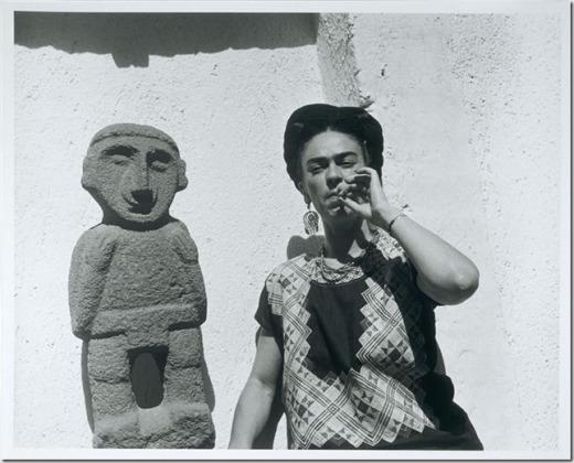 Retrato de Frida Kahlo por Gisèle Freund