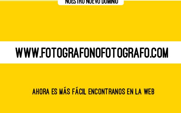 Fotógrafo No Fotógrafo cambia de dominio web