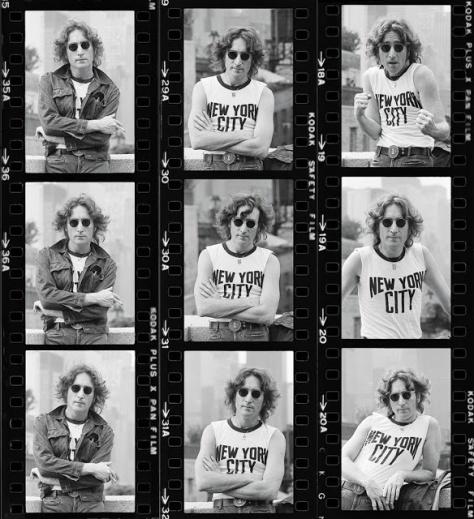 Hoja de contactos de John Lenon en Nueva York - Bod Gruen